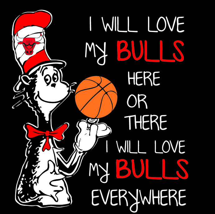 Cat in the Hat, Chicago Bulls, Basketball, SVG