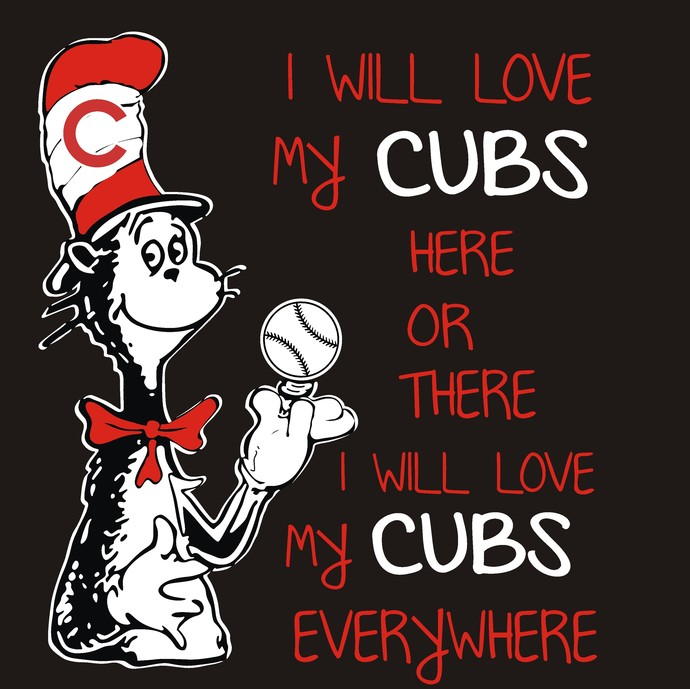 Cat in the Hat, Chicago Cubs, Baseball, SVG
