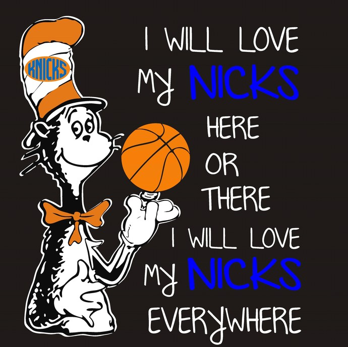 Cat in the Hat, NY Nicks, Basketball, New York, SVG
