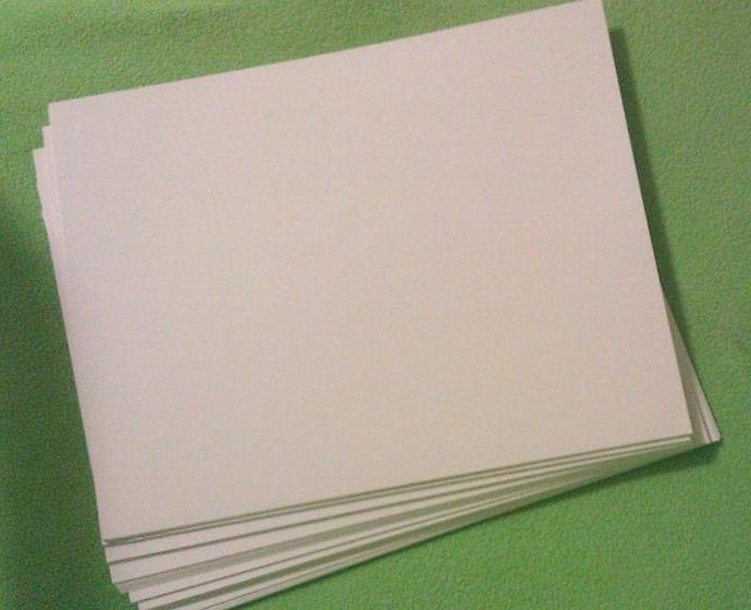 Solid Natural White Card Stock 100 lb, 8 1/2 x 11 (cover) - 25 sheets