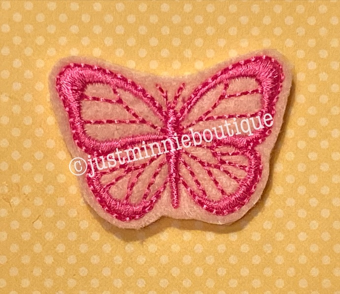 Butterfly Feltie 4 pc UNCUT