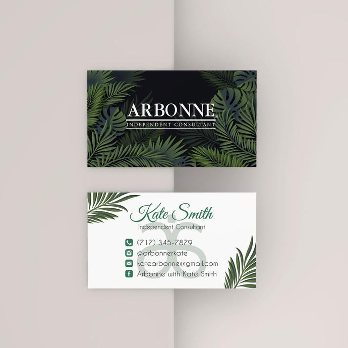 Arbonne Business Card, Arbonne Botanical business card, Arbonne AB39