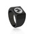 Fire Type Black Square Ring