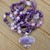 Charoite Long Beaded Necklace with Pendant Purple jewelry gifts for her by