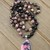 Rhodonite Emotional healing Long Beaded Necklace with Pendant Natural Stone &