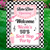 50s Sock Hop Party Welcome Sign, Personalized Birthday Sign, Any Text or Age,