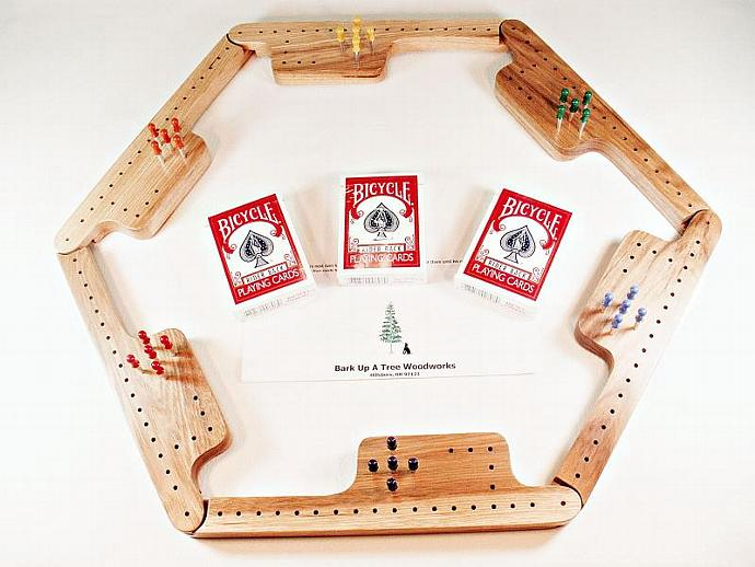Pegs and Jokers Game Set - Hickory