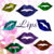 Color Glitter Lips-Digital Clipart-Art Clip-Gift Cards-Banner-Gift Tag-Jewelry-T