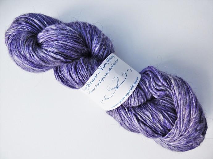 Handspun Yarn – 40/40/20% Alpaca, Merino Wool and Silk – 104 grams – Sport