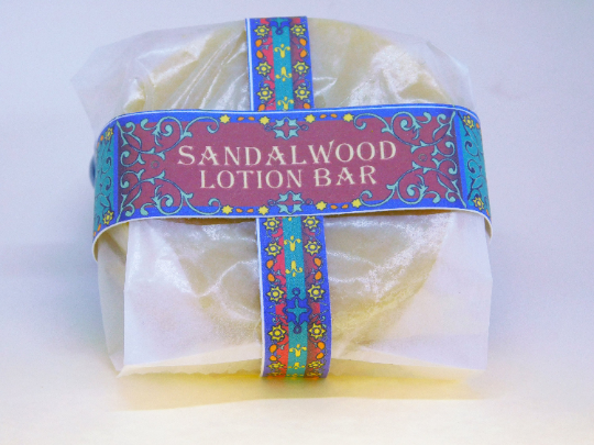 Sandalwood Lotion Bar   Mango Butter   Reduced Packaging   3 oz   Cocoa Butter  