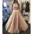 2 piece prom dresses 2020 lace applique beaded champagne high neck elegant prom