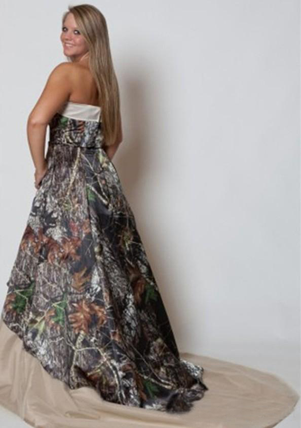Vintage Plus Size Wedding Dresses Strapless Camo Forest Wedding Gowns Stylish