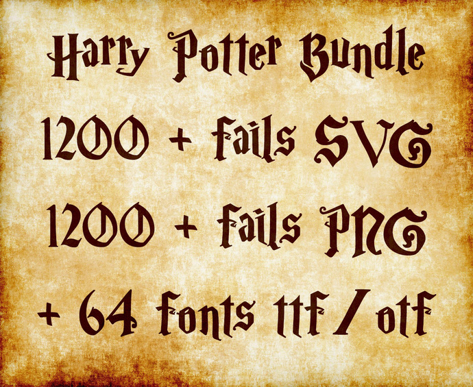 Harry Potter Clipart, Fonts, Logos, Silhouettes