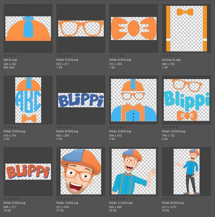 Blippi Clipart Character Face Vector SVG PNG