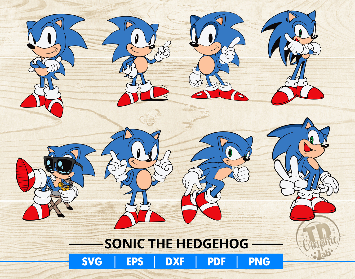 Sonic The Hedgehog Svg Bundle Sonic Clipart By Tdgraphiclab On