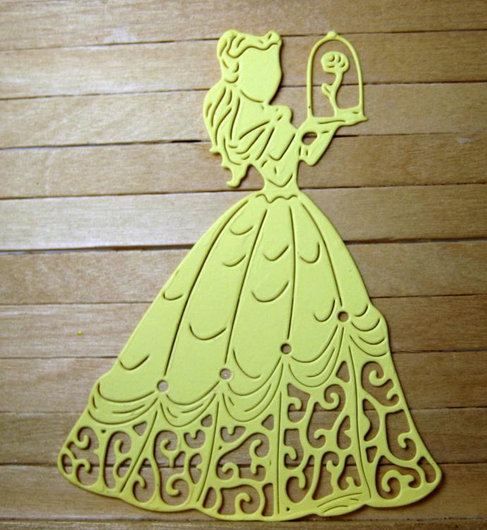 Princess Belle with Rose Metal Cutting Die