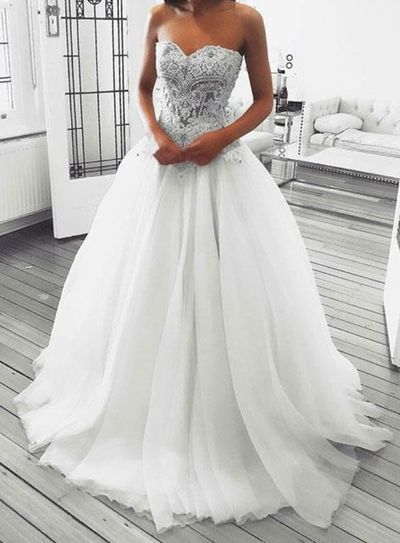 white wedding dresses boho lace appliqué simple elegant tulle cheap bridal