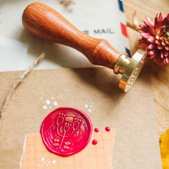 London Gifties wax seal - Nordic Flower - perfect as a gift for yourself & your