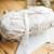Dusty white ribbon yarn - delicate fancy wrapping yarn