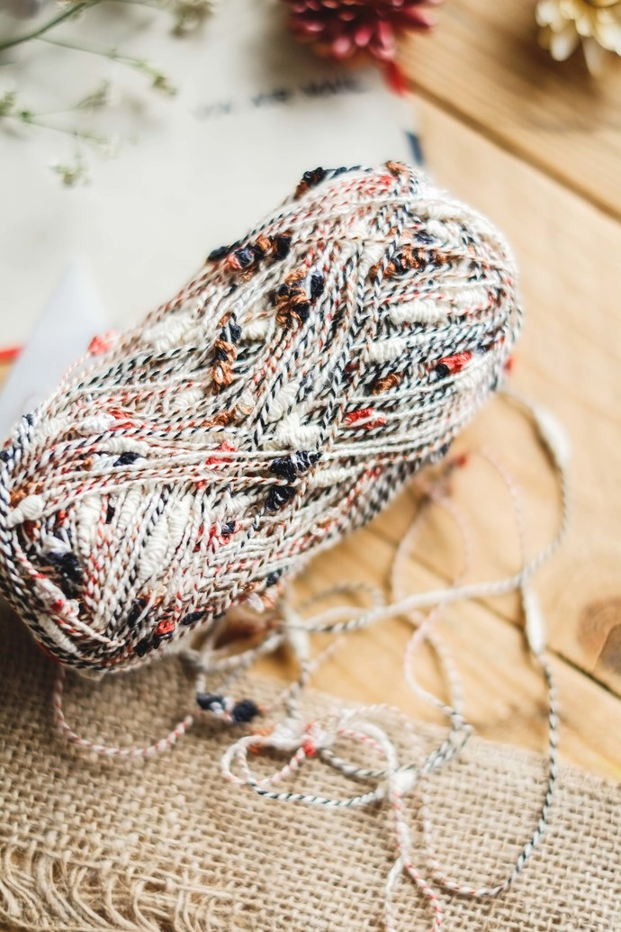 Colourful fancy yarn - delicate 'Ice Cream' wrapping yarn