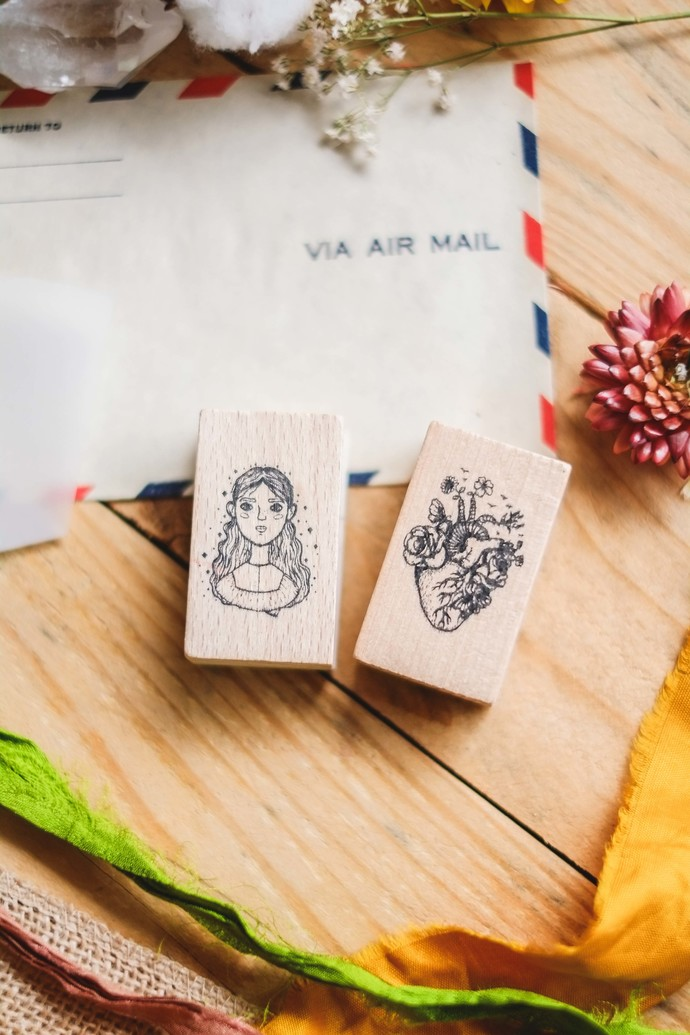 London Gifties design wooden rubber stamps - Kindness - 5 x 3 cm