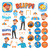Blippi Clipart for Scrapbooking and Crafter