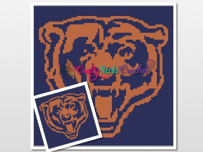 Chicago Bears Pattern Graph With Mini C2C written
