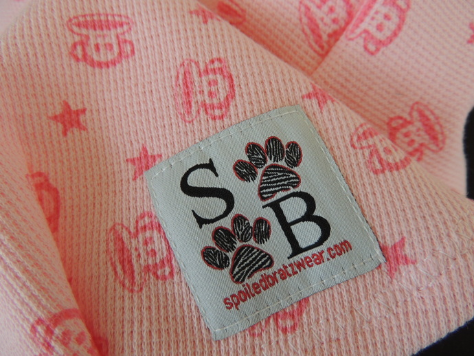 LARGE Pink Monkey 100% Cotton Thermal Dog Shirt