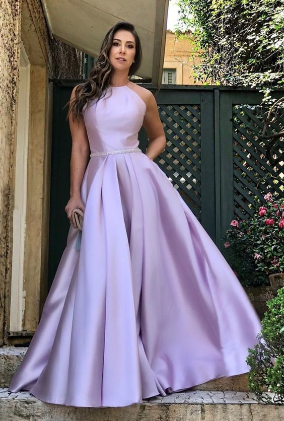 Long Prom Dress, Satin Prom Dress 2020, Elegant Formal Evening Dress   F7092