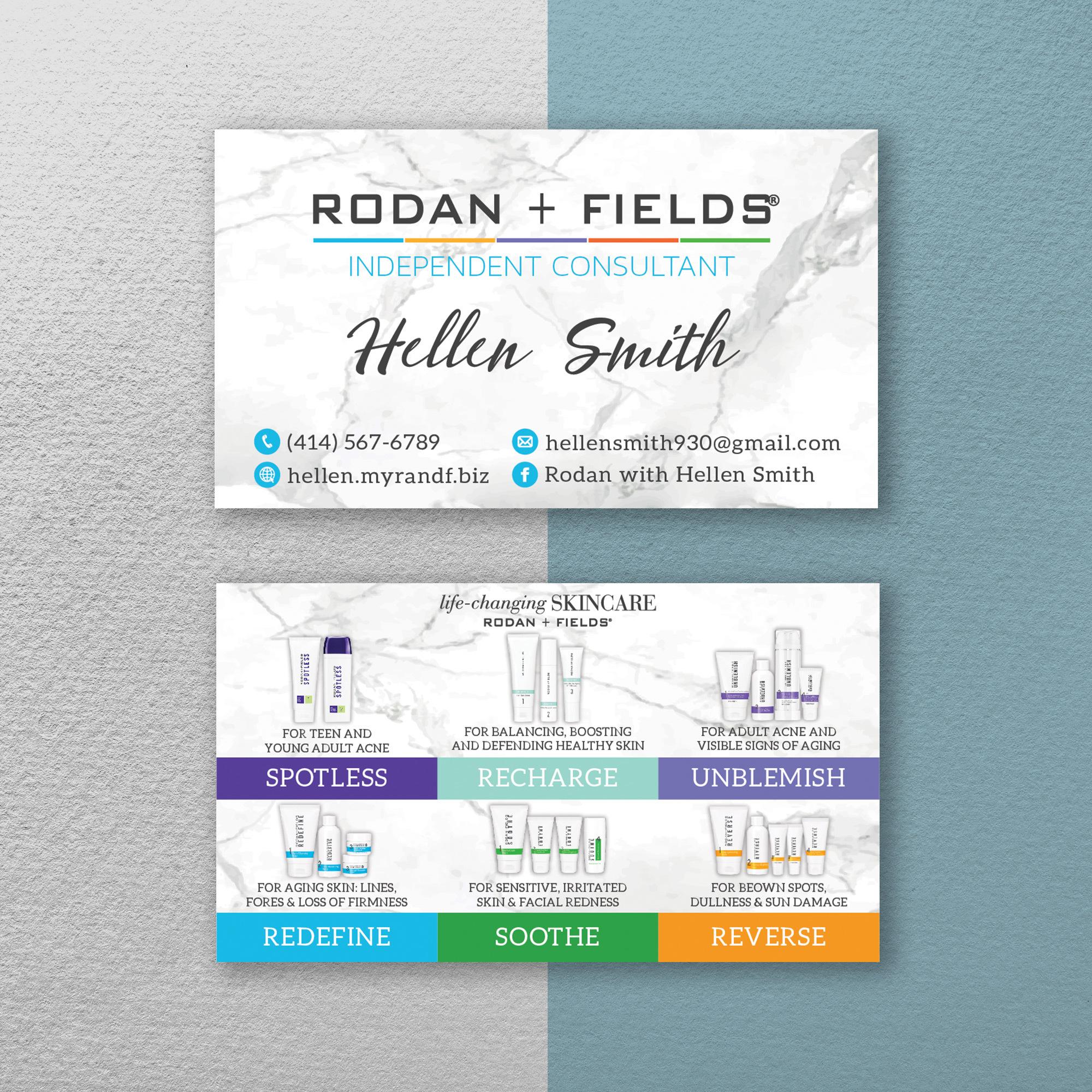 Rodan Fields Business Card Holder Case Leatherette Personalized Free