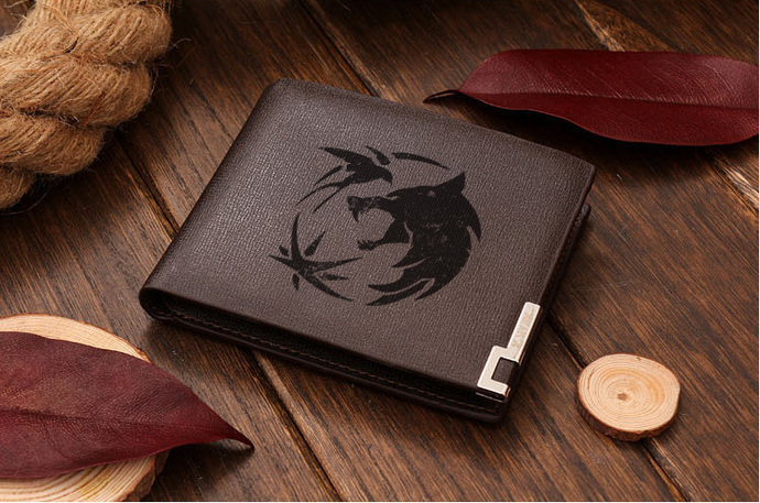 geralt of rivia the witcher Leather Wallet