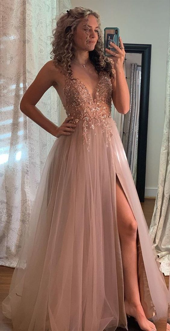 luxury beading prom dresses, sexy prom party dresses, unique graduation party