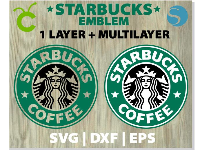 Starbucks Coffee Logo Vector Svg Png Dxf Eps By Hotfont On Zibbet