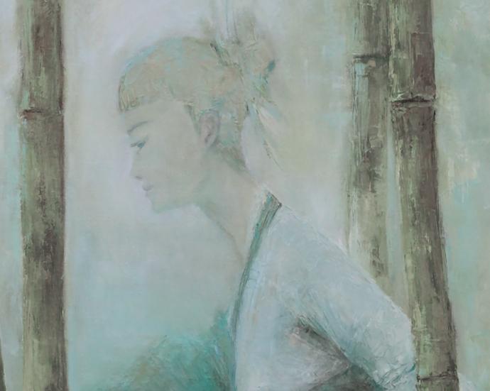 oriental, figure painting, rustic home decor,wall art, female painting, art