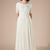 New Lace Chiffon Boho Modest Wedding Dresses With Short Sleeves Boho Bridal
