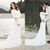 2020 New Crepe Simple Modest Wedding Dresses With Long Sleeves Lace Appliques