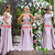 muslim bridesmaid dresses long mismatched pink satin elegant vintage wedding
