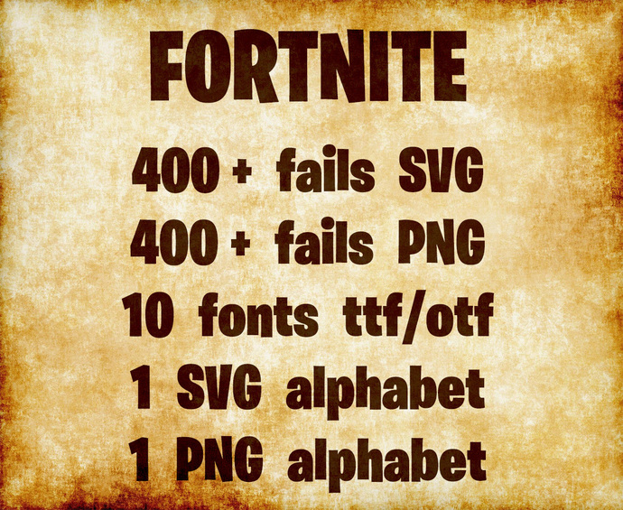 Fortnite Clipart for Cutting and Children's Art