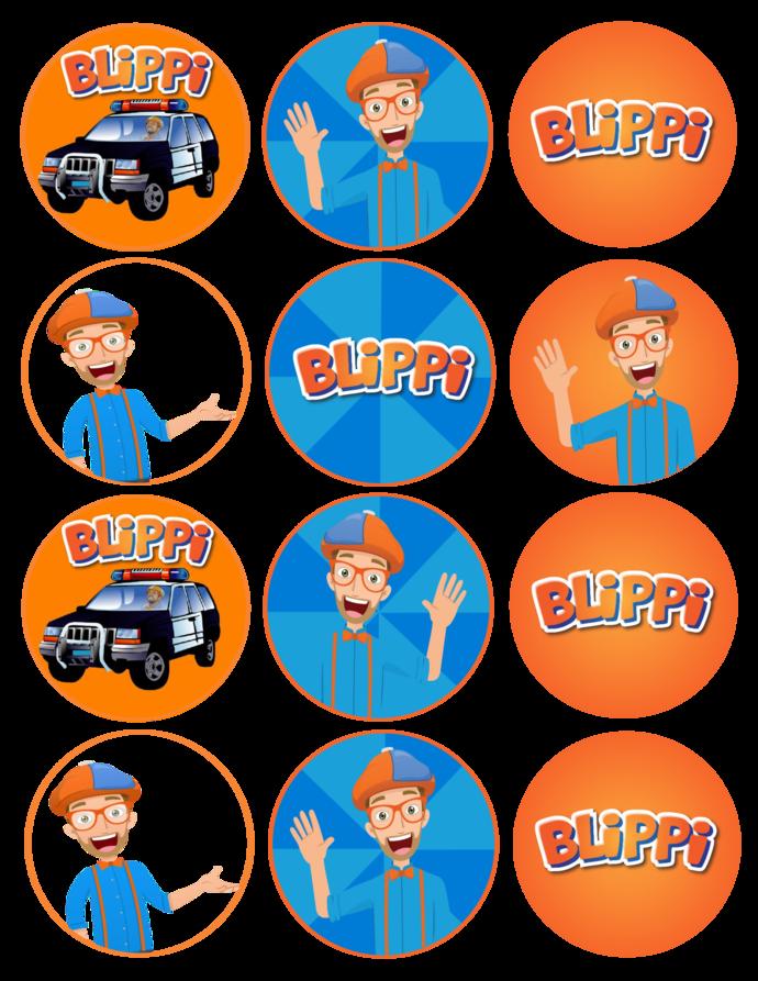 Blippi Clipart for Cutting and Children's Art