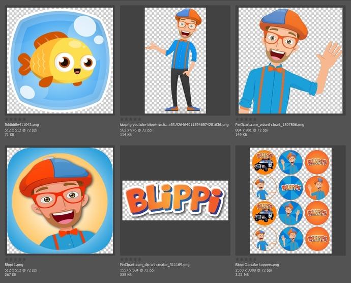 Blippi SVG, PNG Files for Children's Creativity
