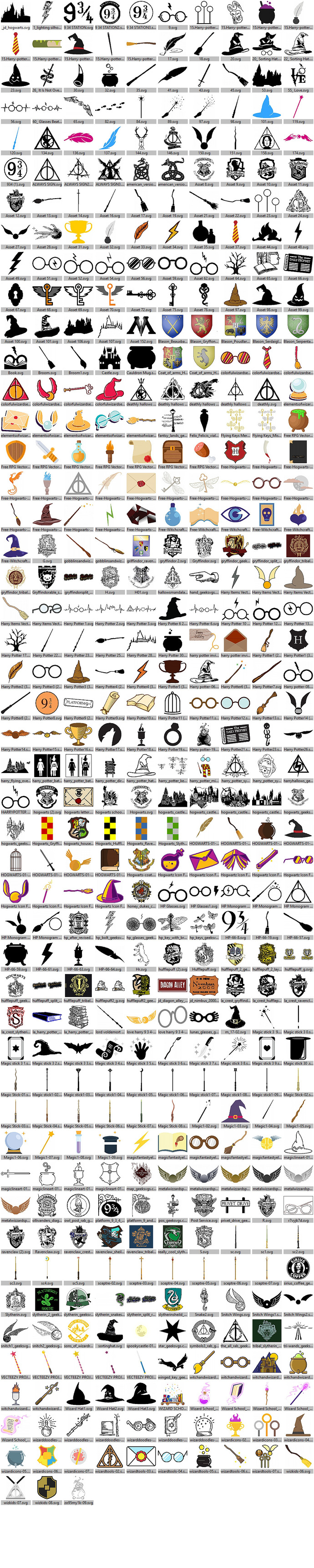Harry Potter Clipart for Scrapbooking, Craft, Cutting