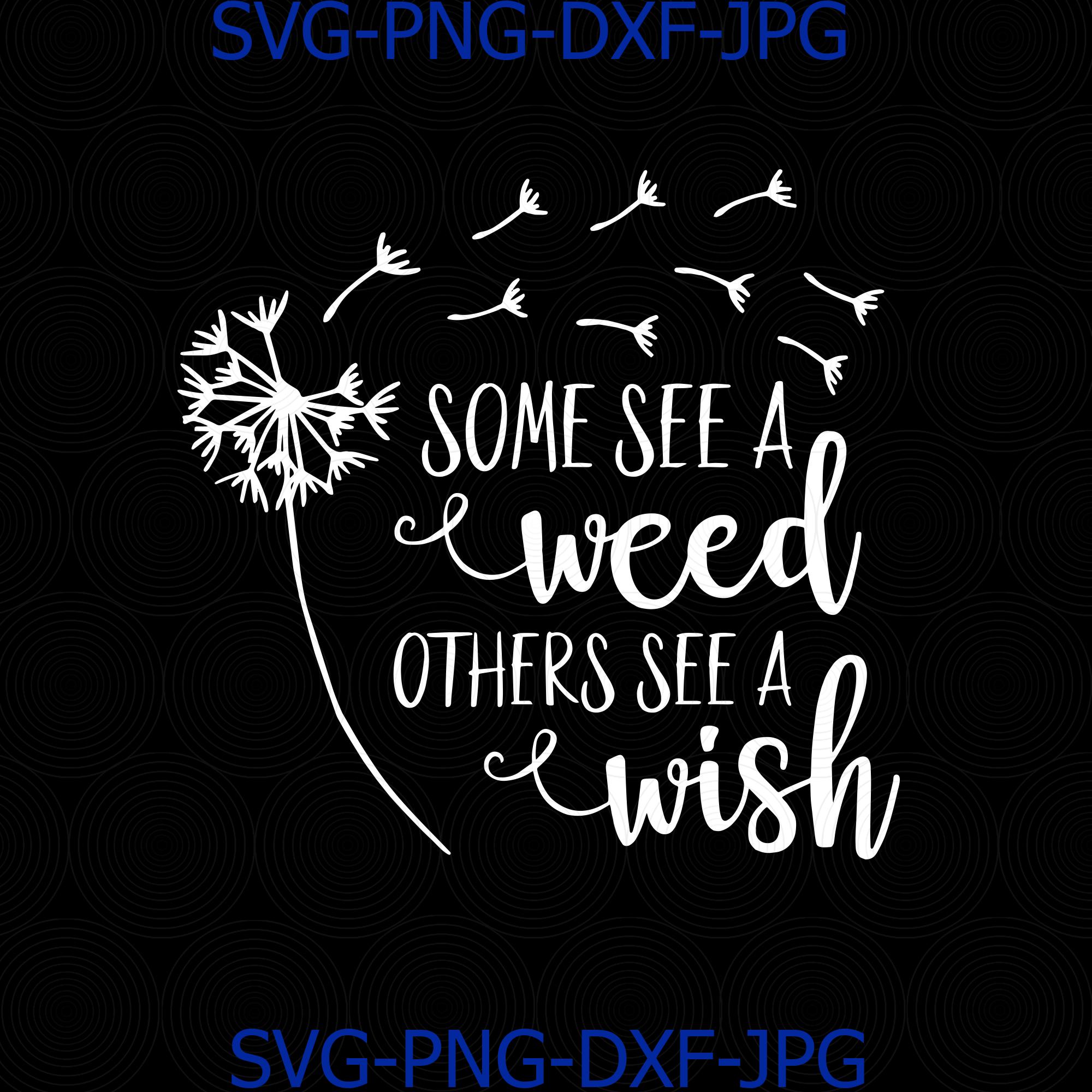 Dandelion Weed Or Wish Digital Svg Dandelion By Digital4u On Zibbet