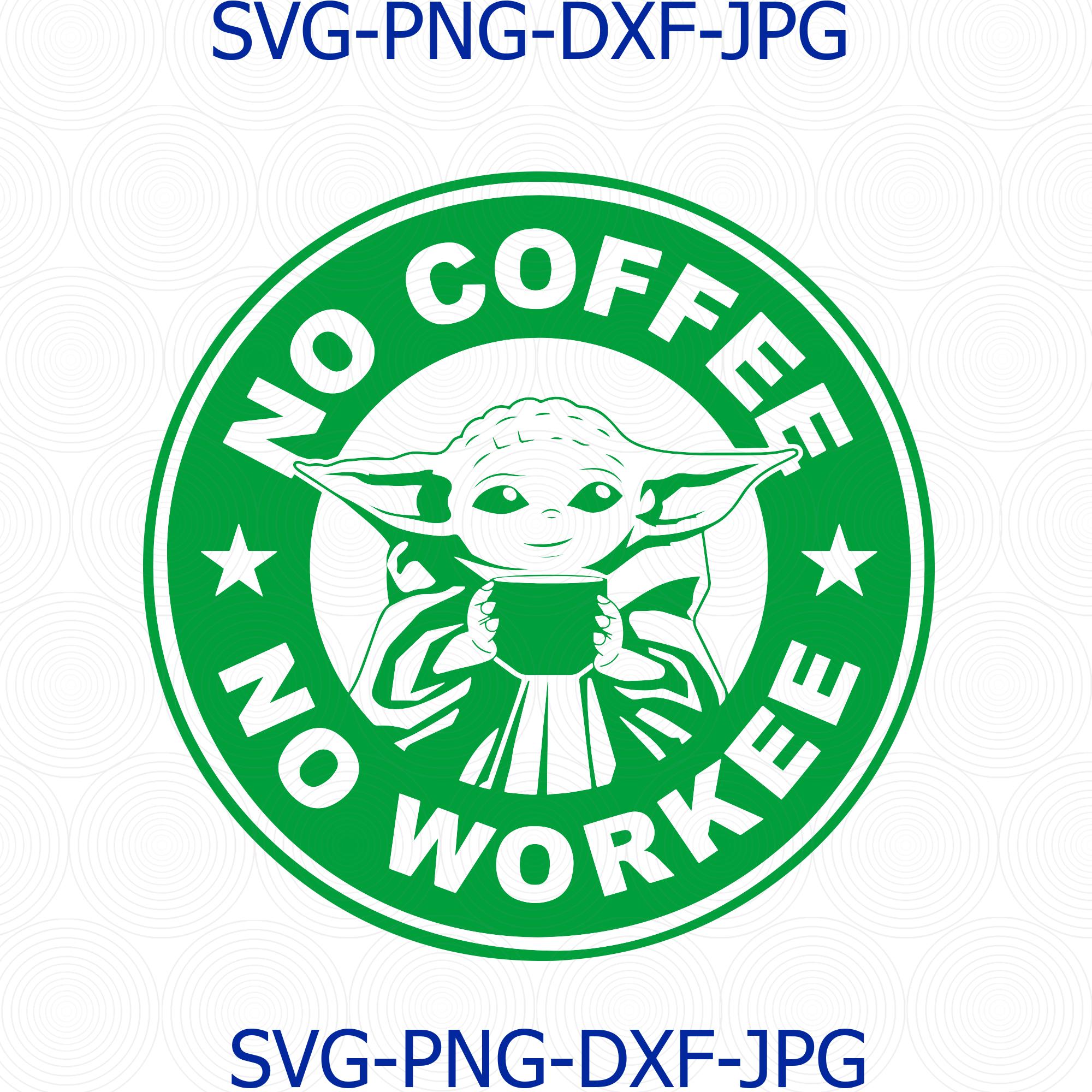 Baby Yoda Coffee Starbucks Svg Baby Yoda No By Digital4u On Zibbet