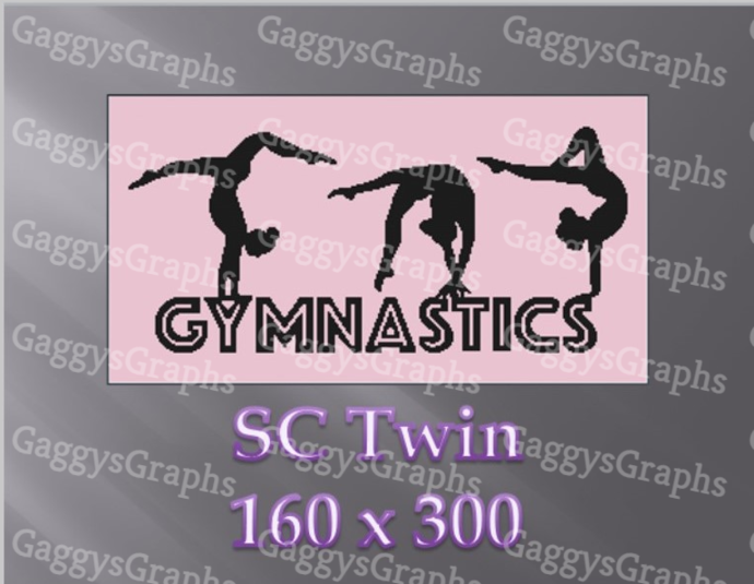 Gymnastics - Twin SC Includes graph, text and color coded block instruction