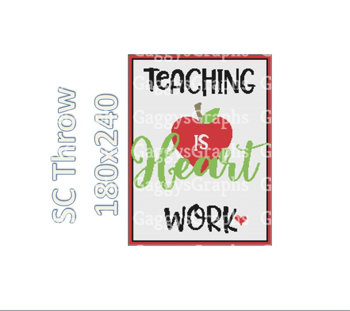 Teaching is Heart Work, SC 180x240, Graph, text Written Instructions and color