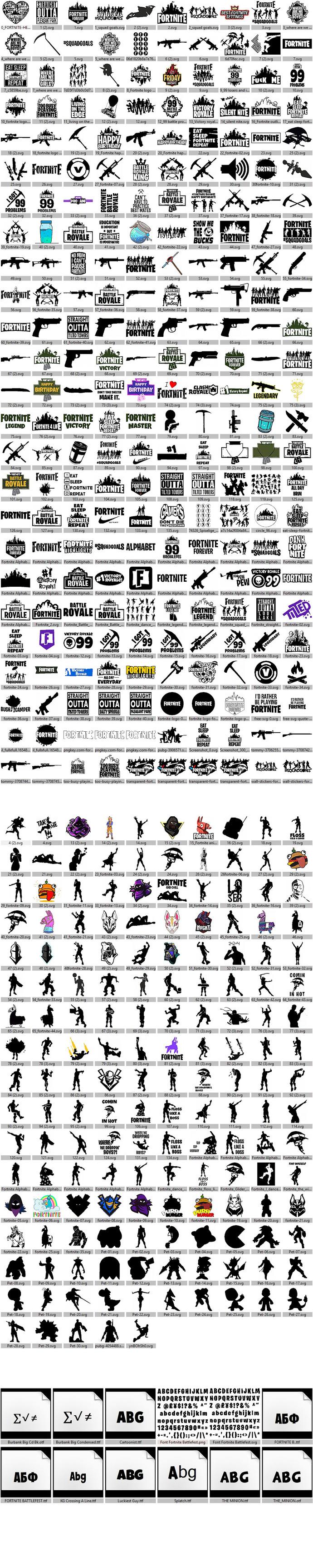 Fortnite SVG, Battle Royale SVG, Fortnite Font SVG, Fortnite Bundle SVG,
