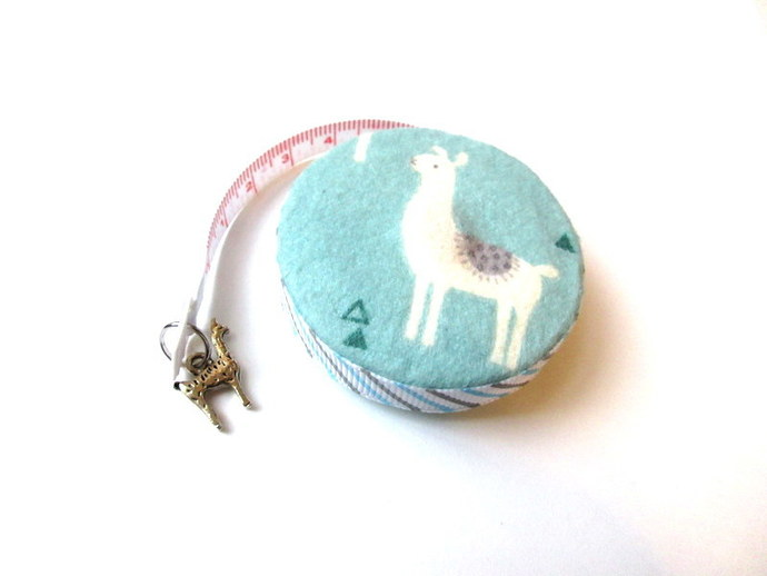 Tape Measure Sage Llamas Small Retractable Measuring Tape