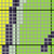 Bunny Love SC Baby Blanket Size Graph, Color coded Block and Text written