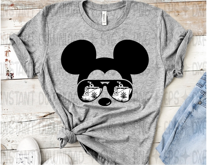 Mickey First Disney Cruise Mickey By Lolo Design Print On Zibbet