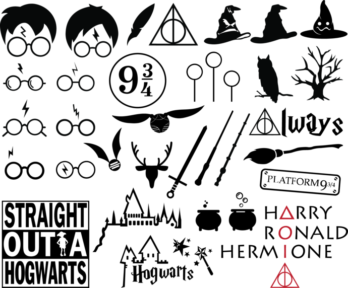 Harry Potter SVG and PNG Cliparts no Background
